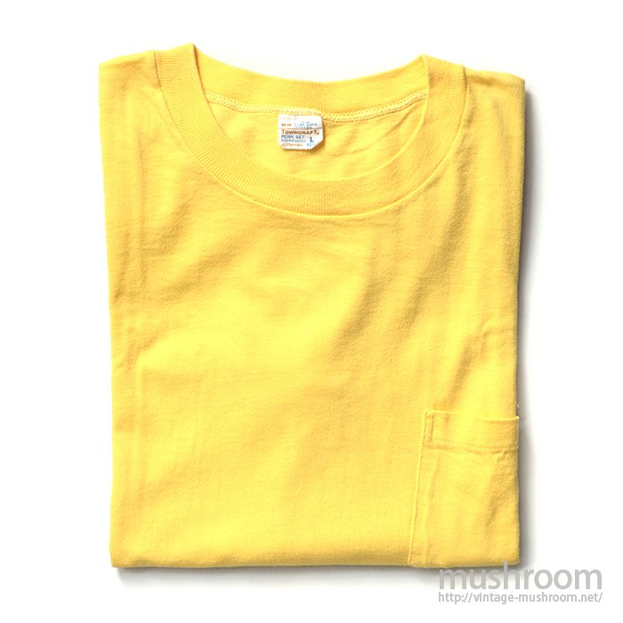 PENNEY'S TOWNCRAFT YELLOW  COTTON POCKET T-SHIRT