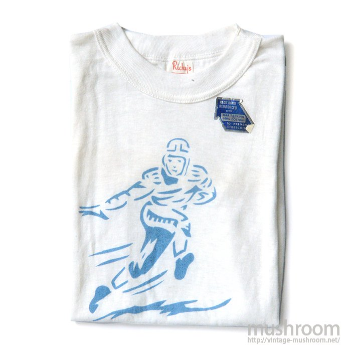 RICKY'S FOOTBALL PLAYER'S STENCIL T-SHIRT( DEADSTOCK )