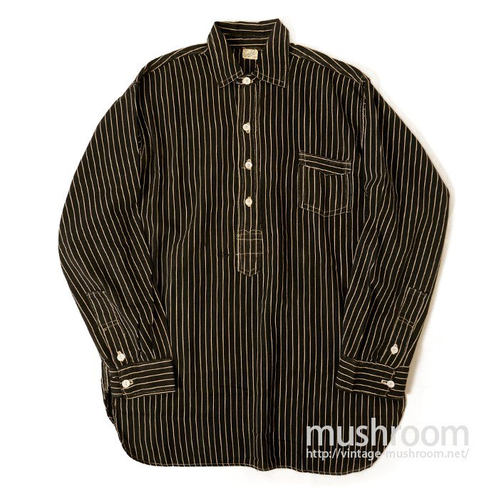 EUCLID BLACK AND WHITE STRIPE WORK SHIRT