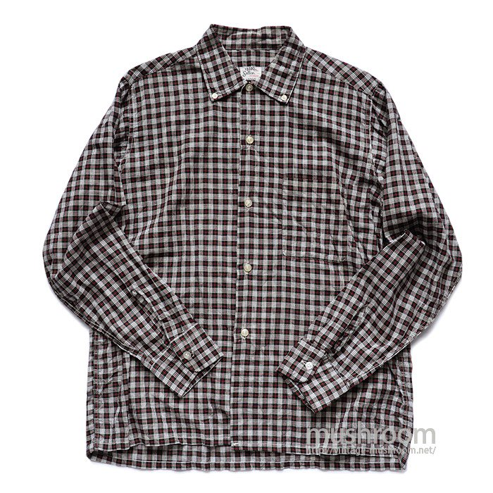 SUTTON PLAID BD COTTON BOX SHIRT