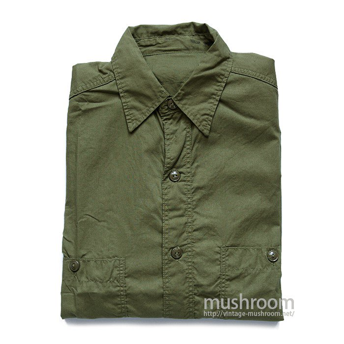 U.S.NAVY POPLIN COTTON UTILITY SHIRT( MINT )