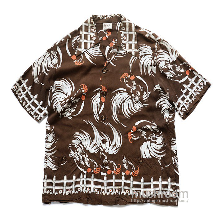 CATALINA ROOSTER PATTERN HAWAIIAN SHIRT