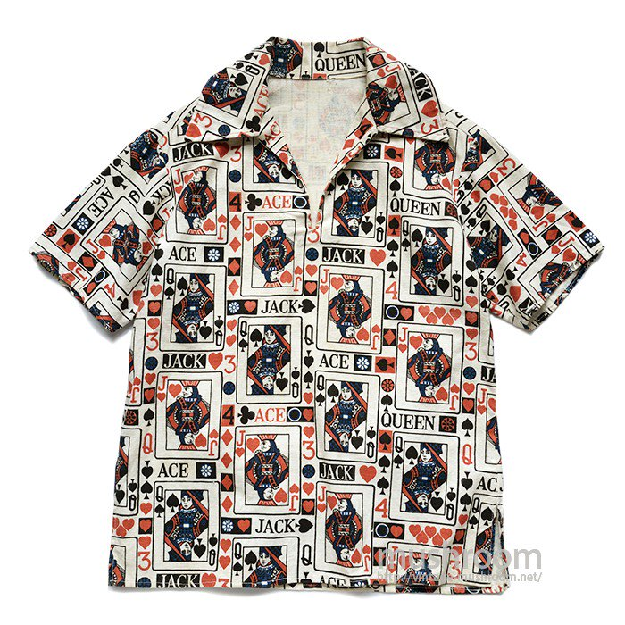 PLAYING CARD PATTERN SHORT SLEEVE SHIRT