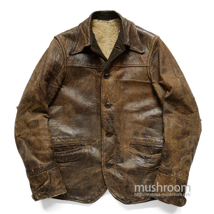OREGON TRAIL SINGLE BREASTED LEATHER CAR COAT