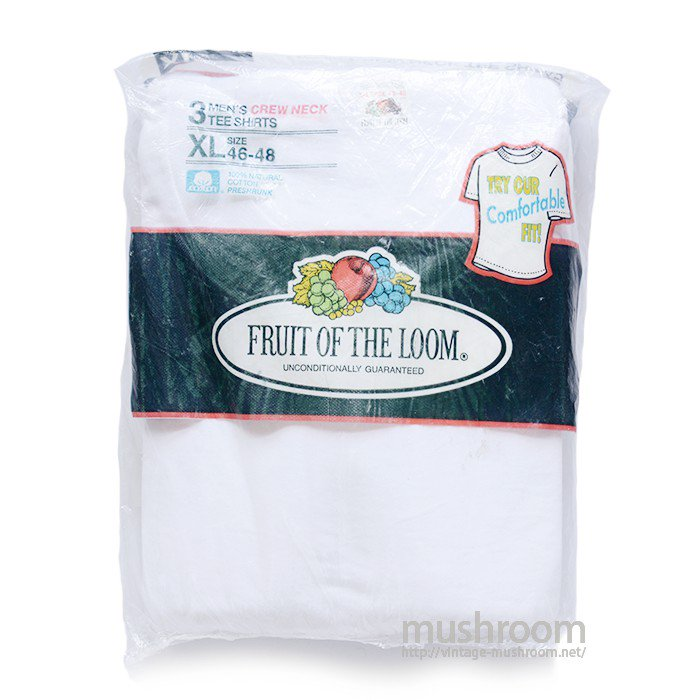 FRUIT OF THE LOOM PLAIN 3PACK T-SHIRT(XL/DEADSTOCK )
