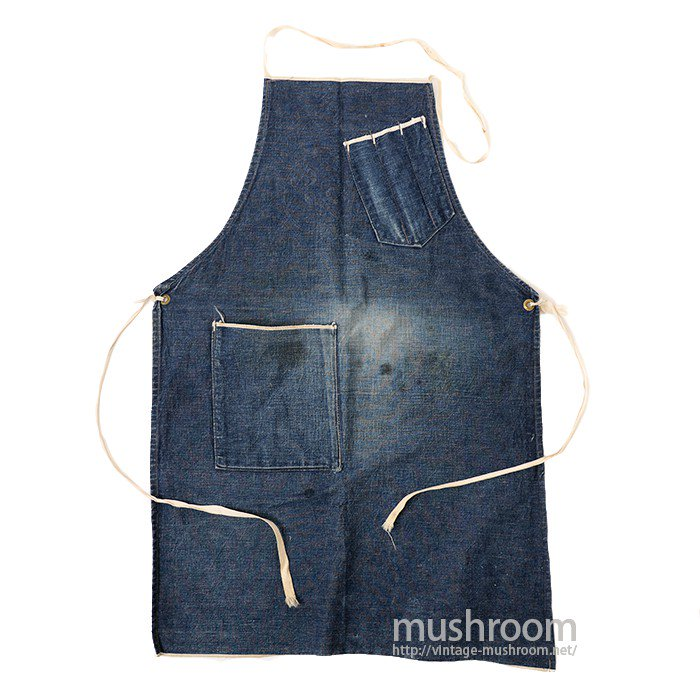OLD DENIM WORK APRON