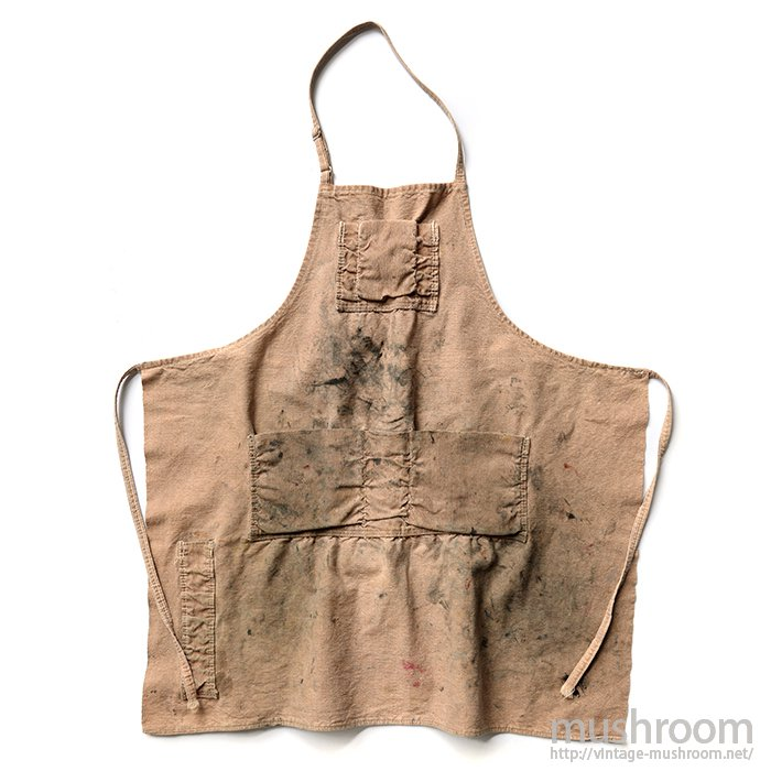 OLD BROWN CANVAS WORK APRON