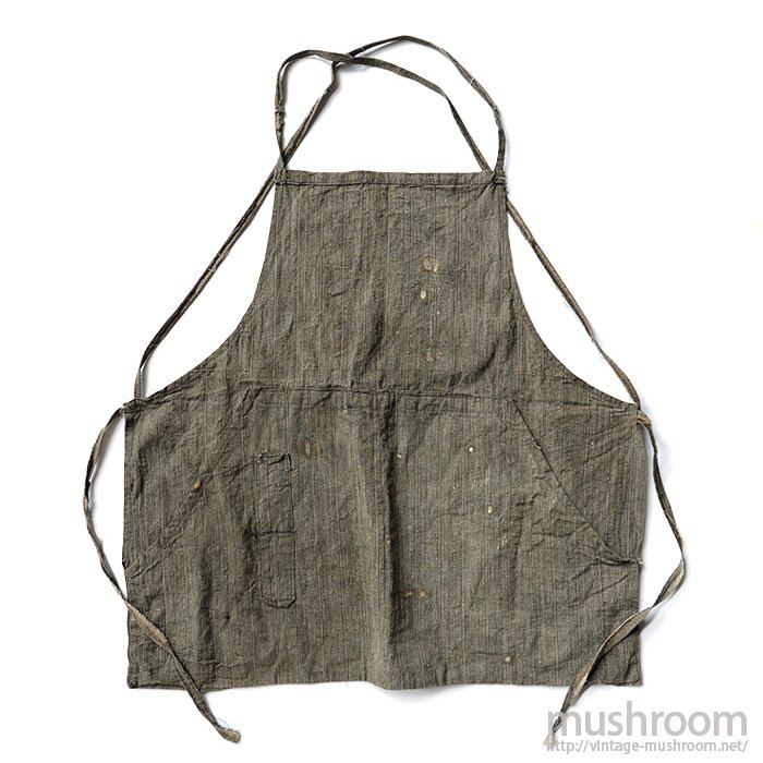 OLD STRIPE COTTON WORK APRON