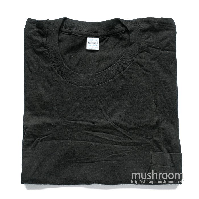 JOCKY BLACK COTTON POCKET T-SHIRT( XXL/DEADSTOCK )