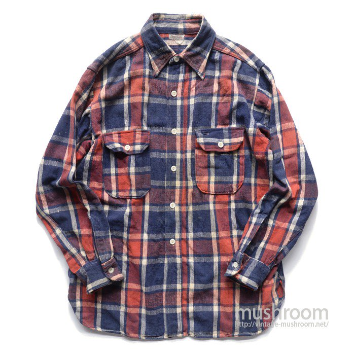 SUN VALLEY PLAID HEAVY FLANNEL WORK SHIRT