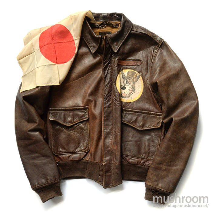 A-2 FLIGHT JACKET WITH HAND-PAINTED( 38/EIGHTH AIR FORCE )
