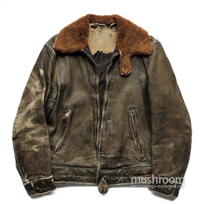 STAR GLOVE SINGLE-BREASTED LEATHER JACKET