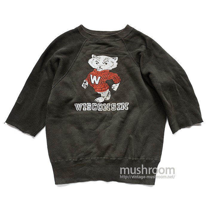 OLD FLOCK PRINT CUT-OFF SWEAT SHIRT