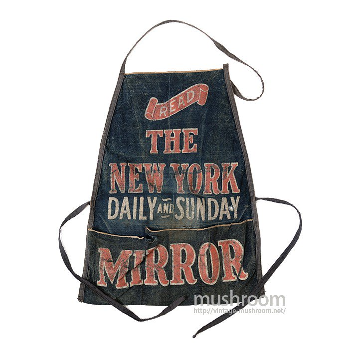 NY DAILY MIRROR DENIM WORK APRON