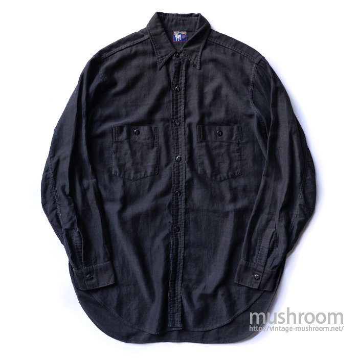 BOSS OF THE ROAD BLACK COTTON WORK SHIRT