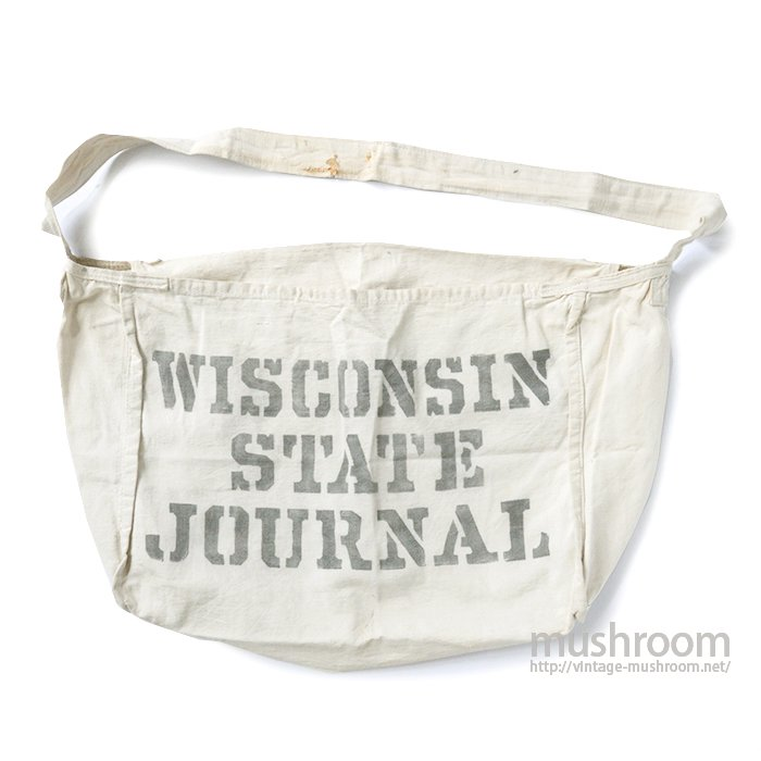 WISCONSIN STATE JOURNAL CANVAS NEWSPAPER BAG