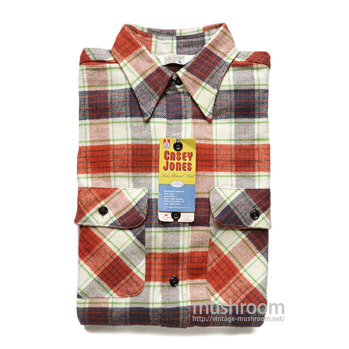 CASEY JOHNS PLAID FLANNEL WORK SHIRT( 15 1/2/DEADSTOCK )
