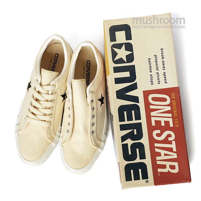 CONVERSE ONE-STAR LO NATURAL CANVAS SHOES( 8/DEADSTOCK )