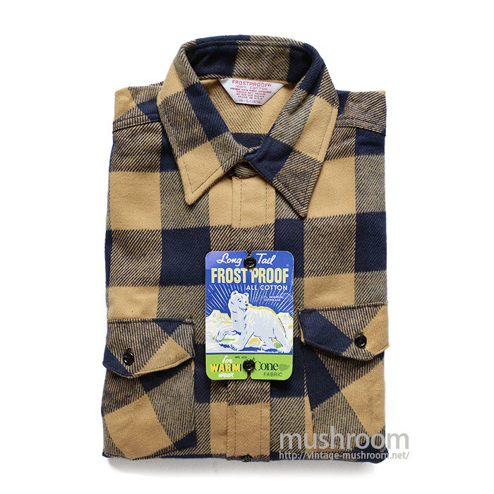 FROST PROOF PLAID FLANNEL SHIRT( L/DEADSTOCK )