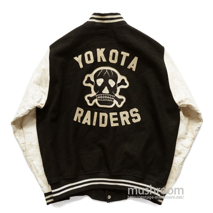 YOKOTA RAIDERS AWARD JACKET WITH SKULL FELT PATCH