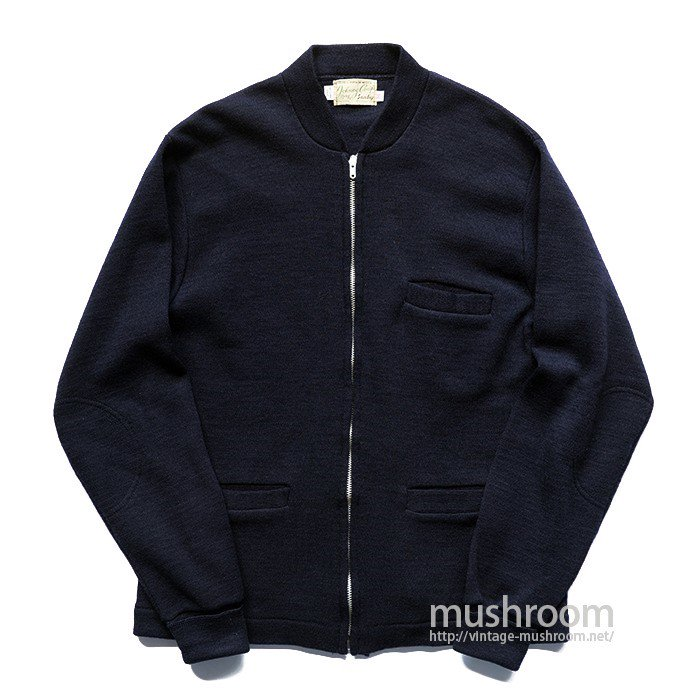 SARBY FULL-ZIP NAVY CARDIGAN