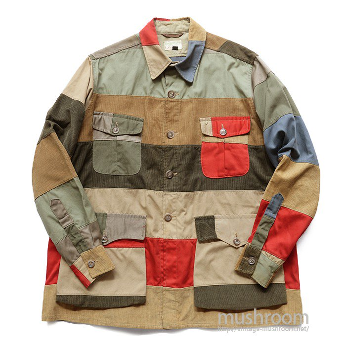 ABERCROMBIE&FITCH PATCHWORK HUNTING JACKET( 42/MINT )