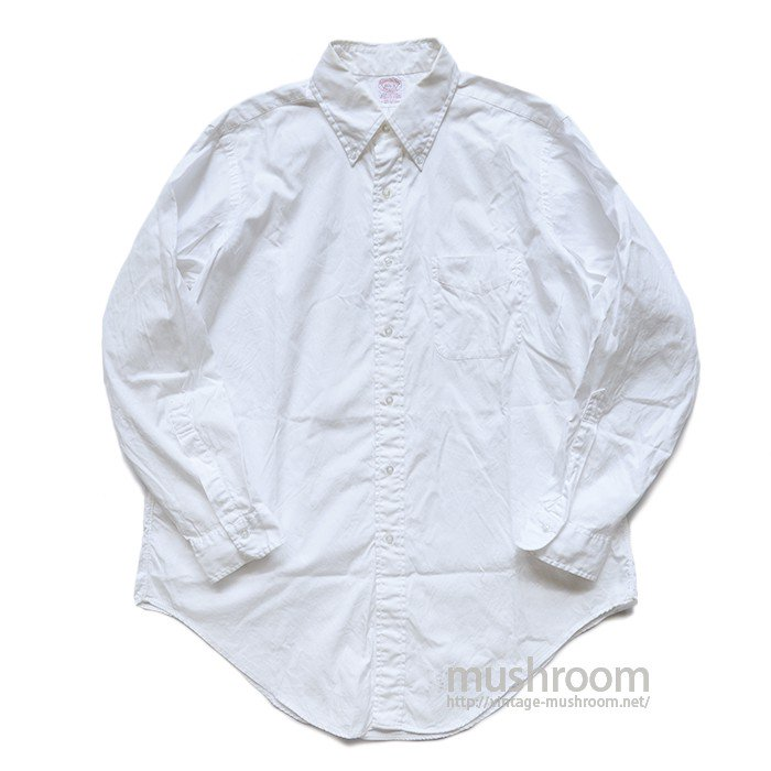 BROOKS BROS WHITE COTTON BD SHIRT