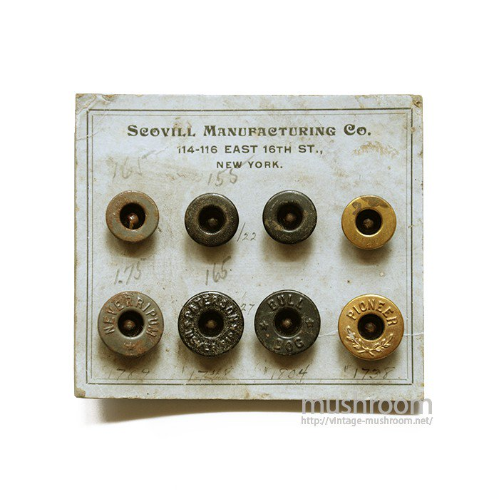 SCOVILL ADVERTISING BUTTON SET ON CARD( DEADSTOCK )