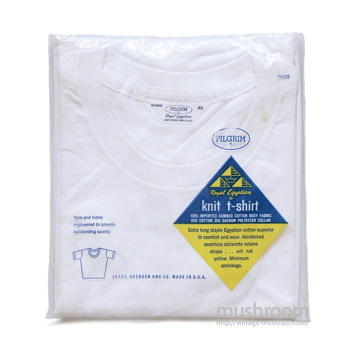 PILGRIM WHITE COTTON T-SHIRT( XL/DEADSTOCK )