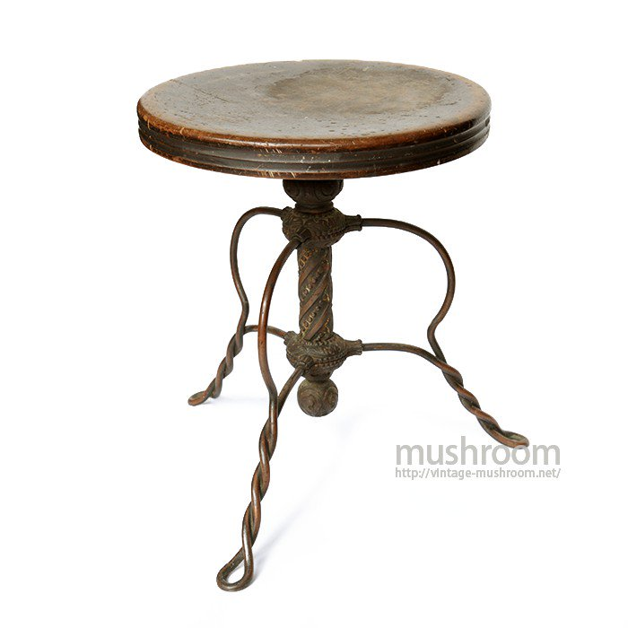 TONK CAST IRON PIANO STOOL