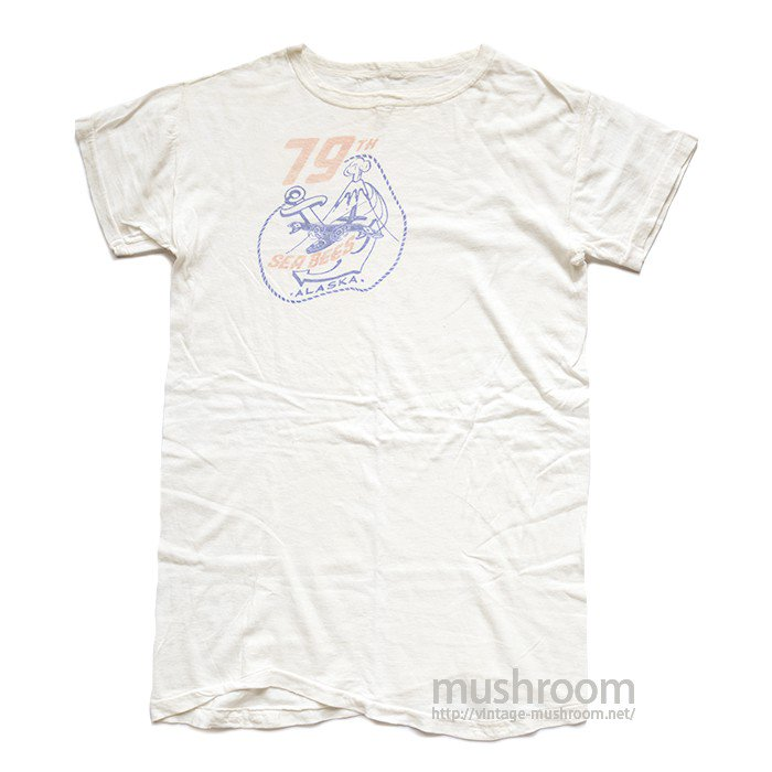WW2 USN SEEBEES T-SHIRT( ONE-WASHED )