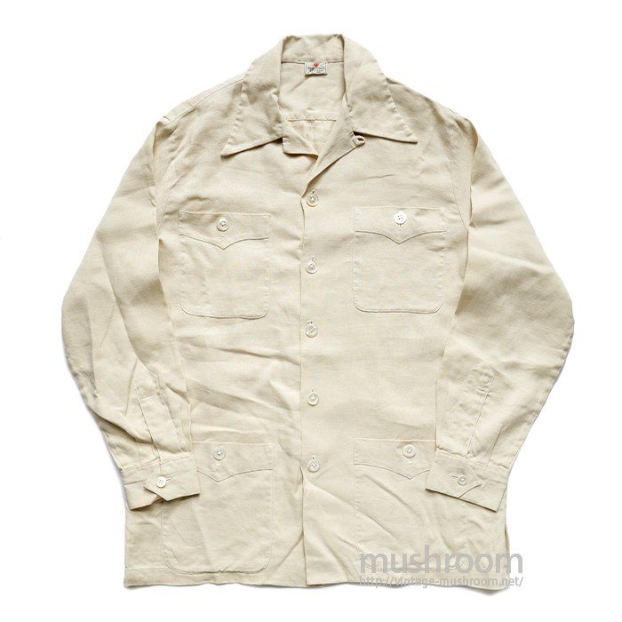 ABERCROMBIE&FITCH LINEN SAFARI JACKET( MINT )