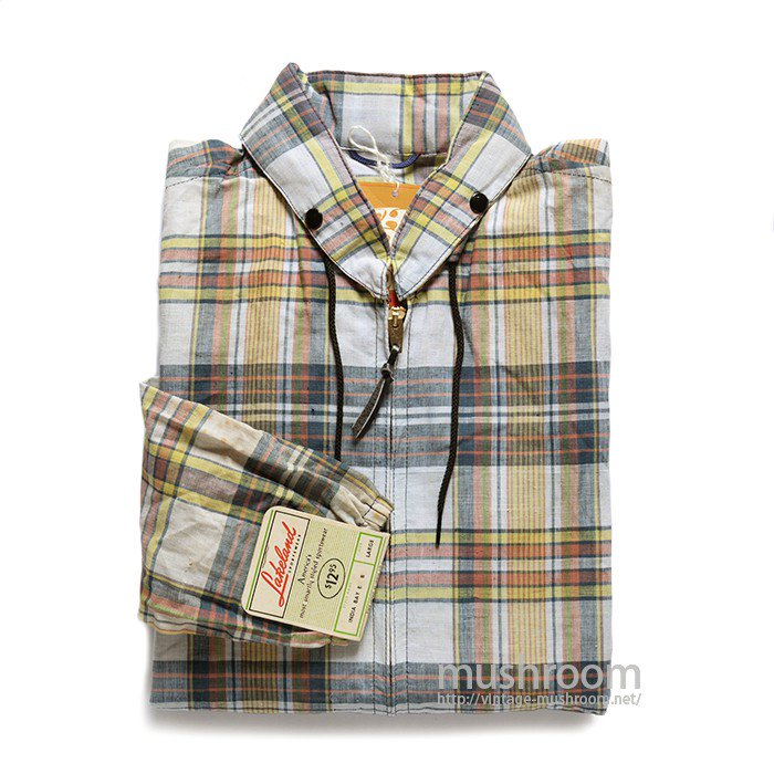 LAKELAND MADRAS PLAID COTTON PARKA( DEADSTOCK )