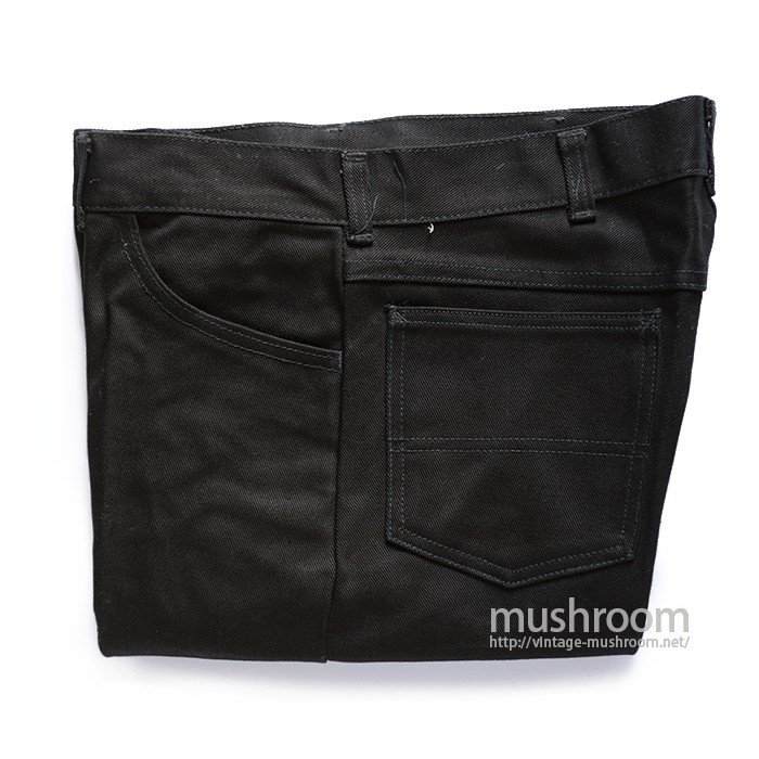 JCP FOREMOST BLACK COTTON TAPERED PANTS( DEADSTOCK )