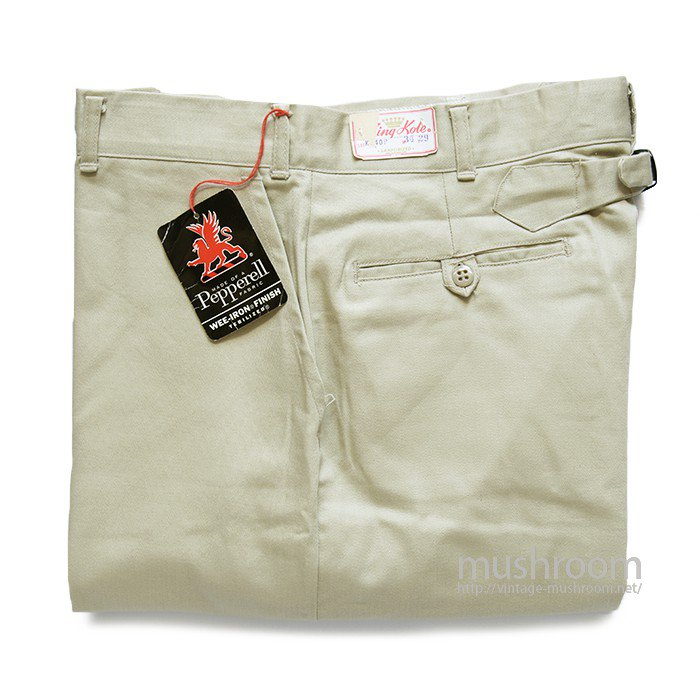 KINGKOLE CHINO TROUSER WITH BUCKLEBACK( W34/L29/DEADSTOCK )