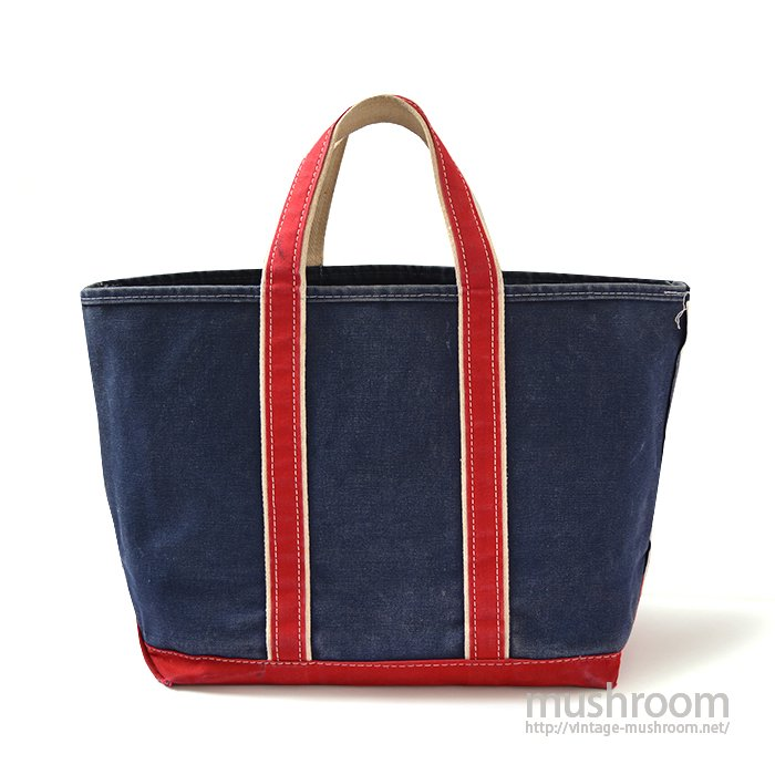 L.L.BEAN DELUXE TOTE BAG( NAVY/RED/LARGE SIZE )