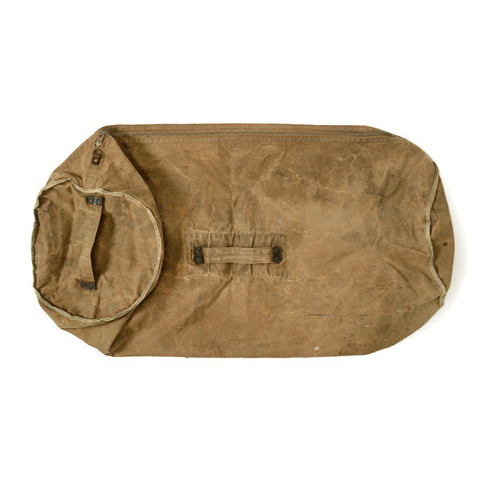 ABERCROMBIE&FITCH BROWN CANVAS DUFFLE BAG