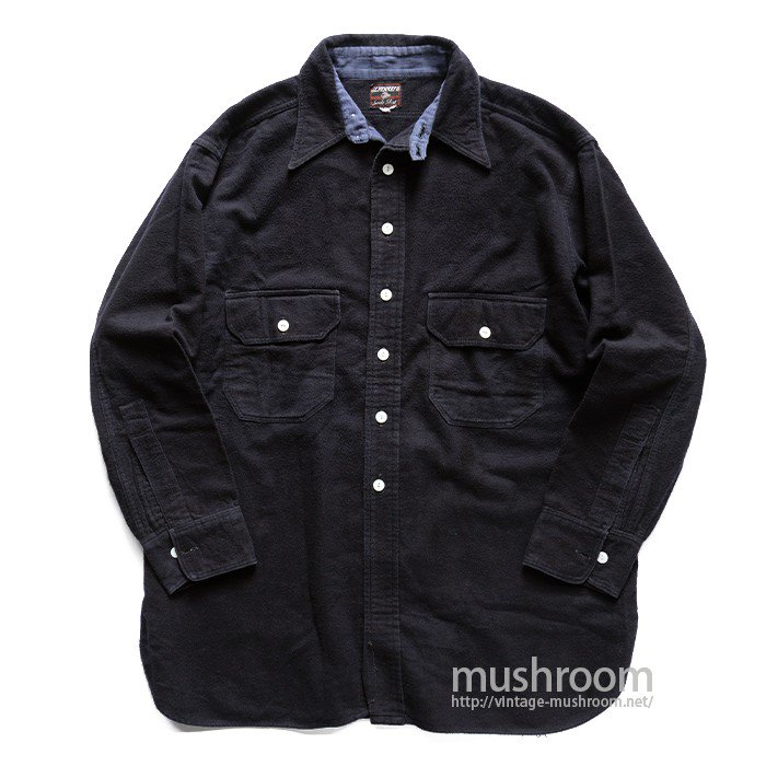 J.C.PENNEY NAVY FLANNEL WORK SHIRT
