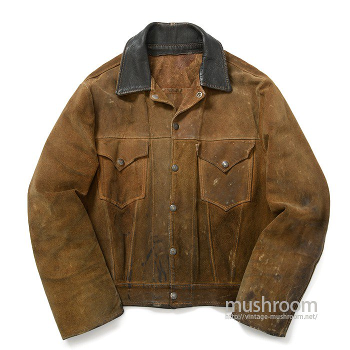 LEVIS SHORTHORN SUEDE AND LEATHER JACKET