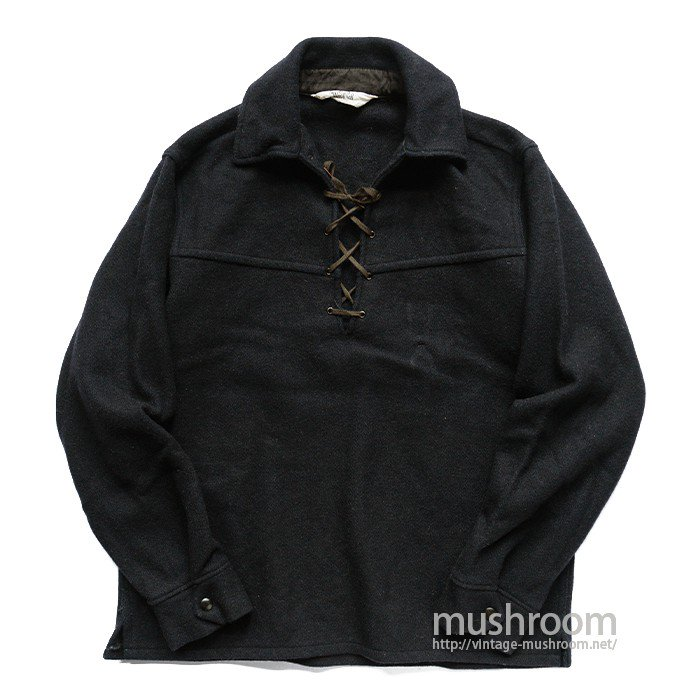 WOOLRICH LACE-UP WOOL SHIRT