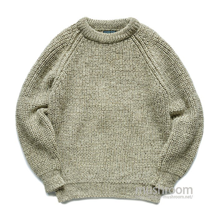 LAND'SEND FISHERMAN SWEATER
