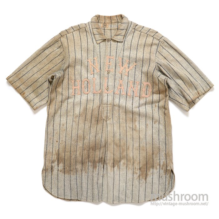 SPALDING STRIPE WOOL BASEBALL SHIRT