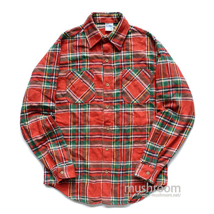BIG MAC PLAID FLANNEL SHIRT( M/MINT)