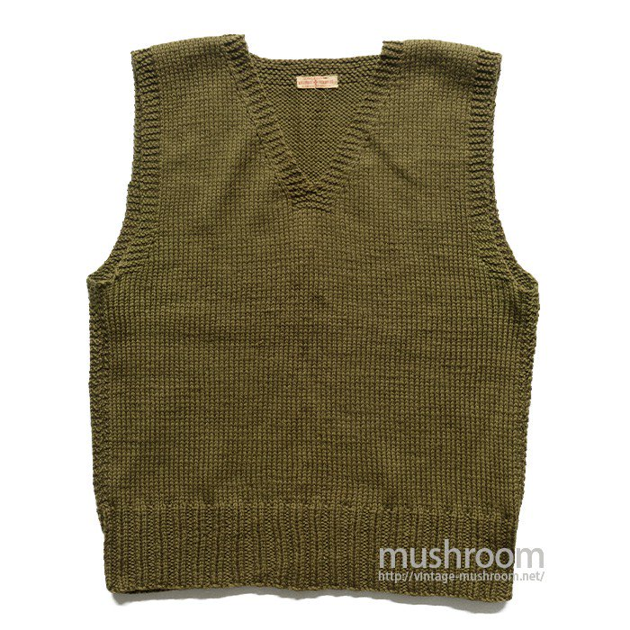 WW2 AMERICAN RED CROSS V-NECK KNIT VEST