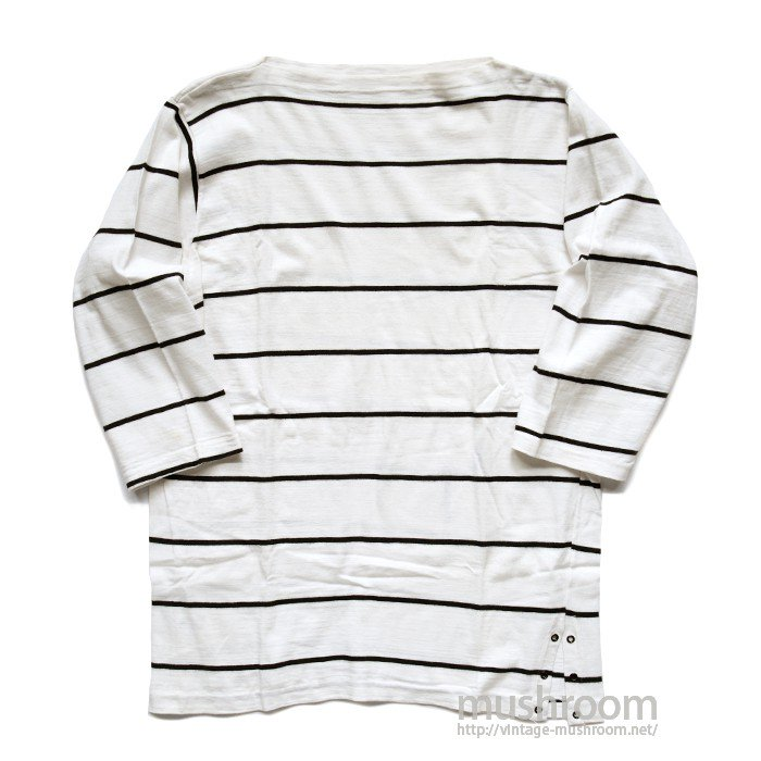 CAMPUS BOAT-NECK BORDER-STRIPE TEE