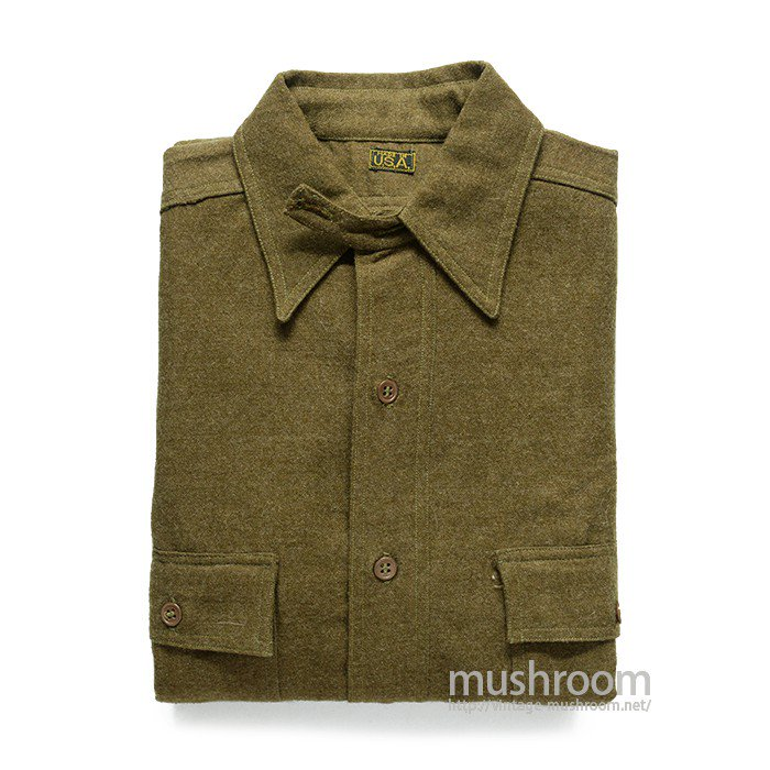 WW1 U.S.MILITARY WOOL SHIRT WITH CHINSTRAP( DEADSTOCK )