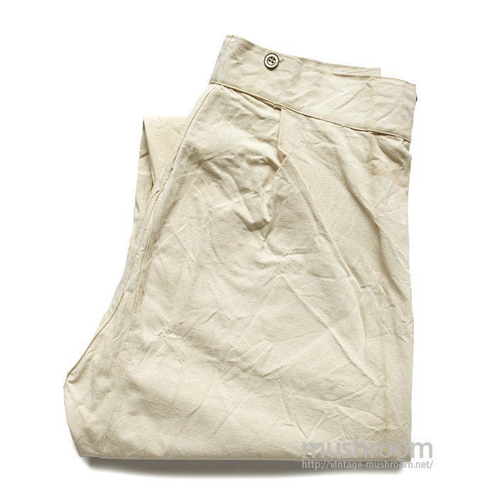 AROUND 1870's U.S.MILITARY WHITE CANVAS PANTS( MINT )