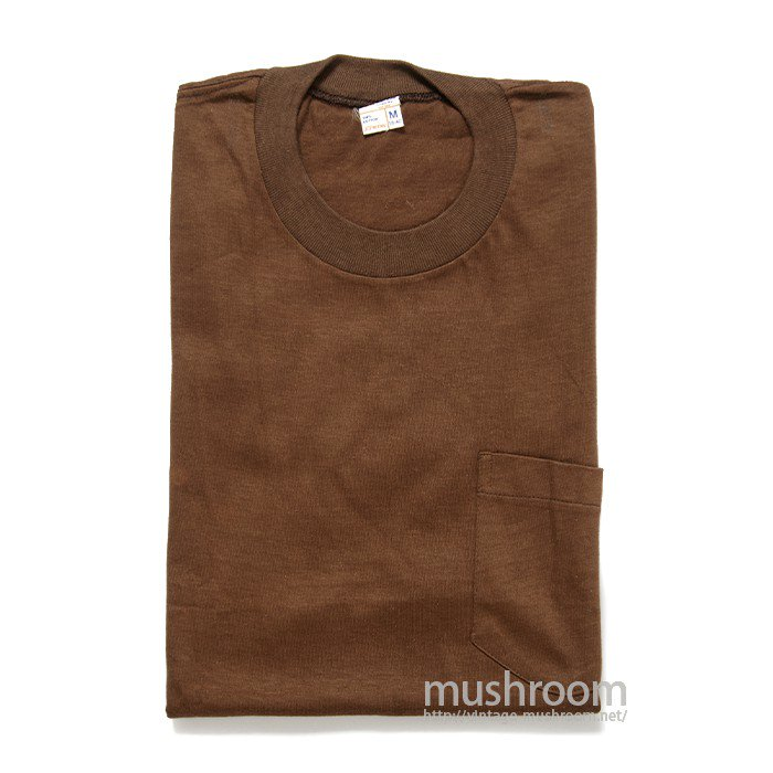 JCPENNEY BROWN COTTON POCKET T-SHIRT( M/DEADSTOCK )