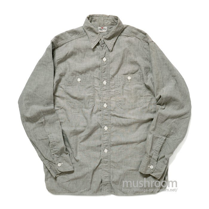 KING KOLE GRAY CHAMBRAY WORK SHIRT