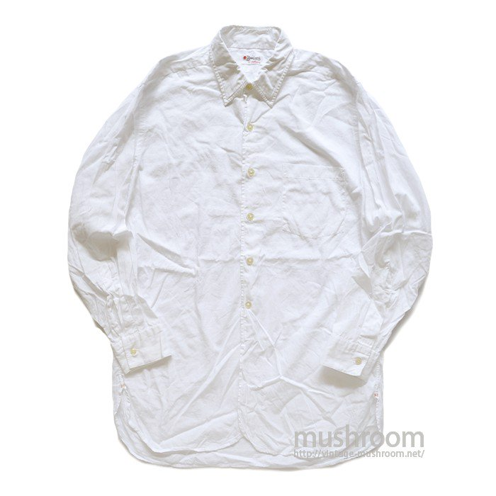 HATHAWAY WHITE COTTON SHIRT( 15 1/2/MINT )